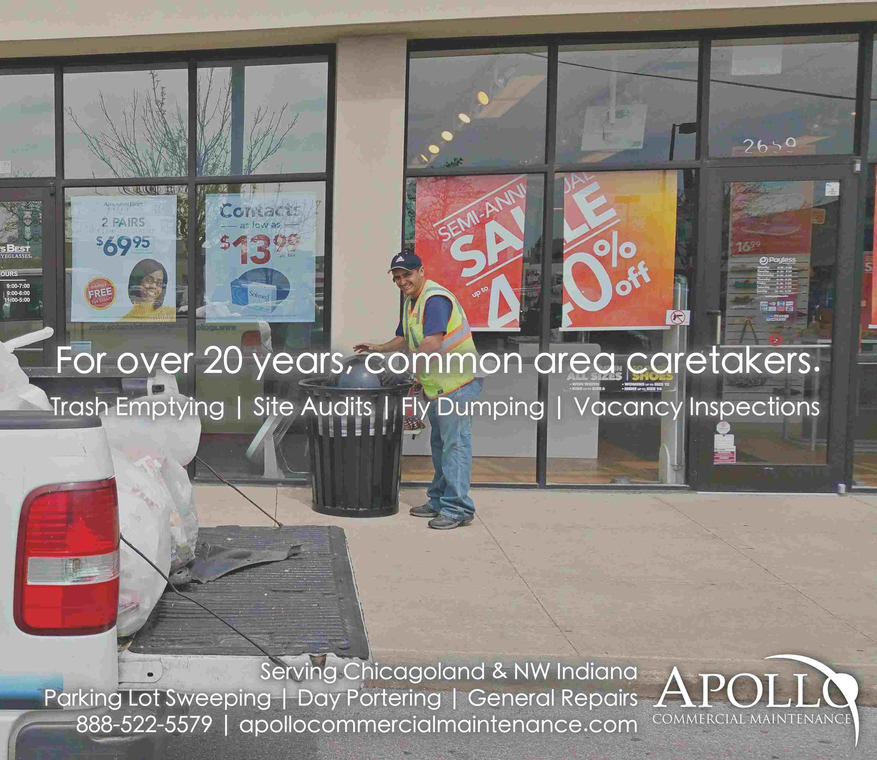 Parking Lot Sweeping - Day Portering - Apollo Commercial Maintenance